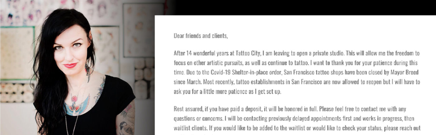 Leaving Tattoo City Letter